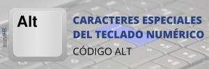 Caracteres especiales con el código ALT