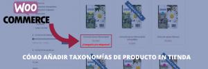 Cómo poner taxonomías en productos de tienda en Woocommerce