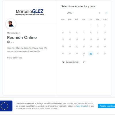 reserva de cita para reunión marceloglez