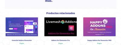 Ejemplo de productos relacionados en Woocommerce